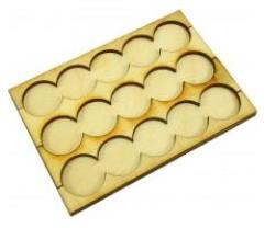 Rank Tray - 5x3 Formation, 32mm Round Bases