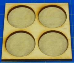 Dux Bellorum Tray - 4 Figures, 25mm Round Bases