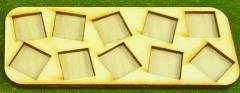 Skirmish Tray - 12 Figures, 25mm Square Bases