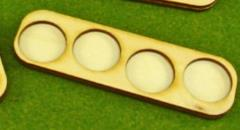 Skirmish Tray - 4 Figures, 20mm Round Bases