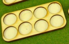 Skirmish Tray - 8 Figures, 20mm Round Bases
