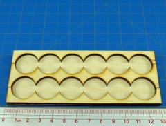 Rank Tray - 6x2 Formation, 20mm Round Bases
