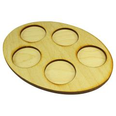 126x167mm Oval Squad Tray