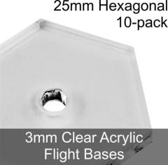 25mm Hexoganal Flight Bases w/3mm Hole
