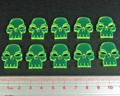 Skull Tokens - Fluorescent Green