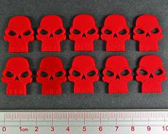 Skull Tokens - Opaque Red