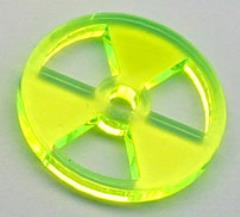 Nuclear Hazard Tokens - Fluorescent Green