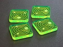 Scanner Blips - Fluorescent Green