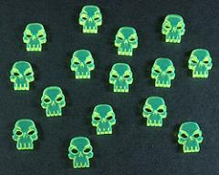 Mini Skull Tokens - Fluorescent Green