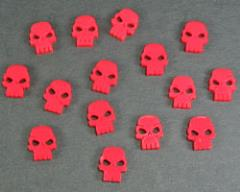 Mini Skull Tokens - Red