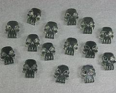 Mini Skull Tokens - Transparent Grey