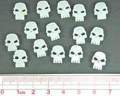 Mini Skull Tokens - Translucent White
