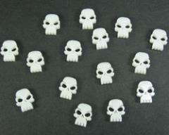 Mini Skull Tokens - White