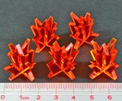 Blast Markers - Medium, Fluorescent Amber (5)