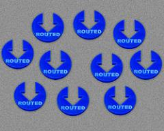 Routed - Blue