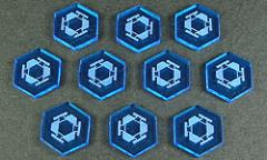Space Mine Tokens - Fluorescent Blue