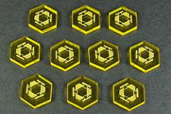 Space Mine Tokens - Transparent Yellow