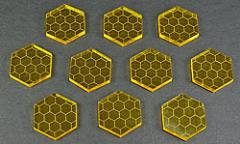 Space Shield Tokens - Transparent Yellow