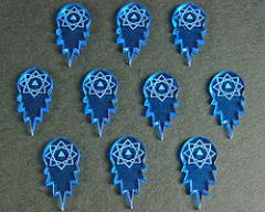 Space Torpedo Tokens - Fluorescent Blue