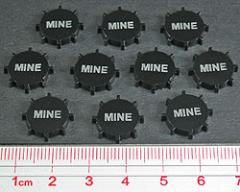 Naval Mine Tokens - Opaque Black