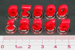 Micro Number Marker Set - Red