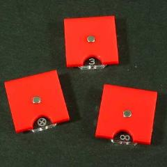 Steampunk Wars - Fuel Token Dials - Opaque Red (3)