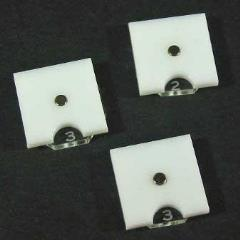 Steampunk Wars - Fuel Token Dials - Opaque White (3)