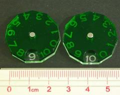 Spartan Games - Casualty/Damage Token Dials, Translucent Green (2)