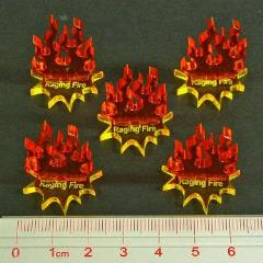 Steampunk Wars - Raging Fire Markers (5)