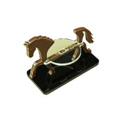 50x25mm Base - Horse/Character Mount Marker - Brown