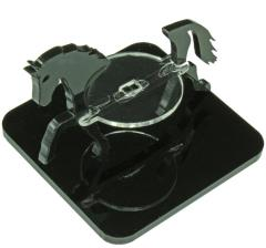 "2"" Square Base - Horse/Character Mount Marker - Black"