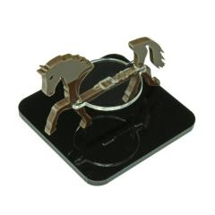"2"" Square Base - Horse/Character Mount Marker - Brown"