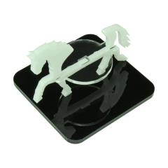 "2"" Square Base - Horse/Character Mount Marker - White"