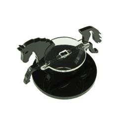 40mm Round Base - Horse/Character Mount Marker - Black