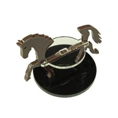 40mm Round Base - Horse/Character Mount Marker - Brown