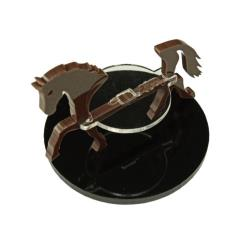 50mm Round Base - Horse/Character Mount Marker - Brown