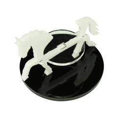 50mm Round Base - Horse/Character Mount Marker - White