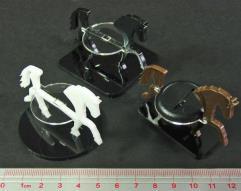 "2"" Square Base - Horse/Character Mount Marker - Black"
