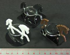 50mm Round Base - Horse/Character Mount Marker - Black