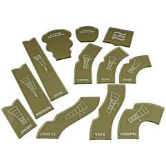 Gaslands Template Set - Translucent Bronze