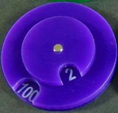 Combat Dial 0-100 - Purple