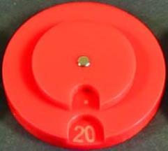 Combat Dial 0-100 - Red