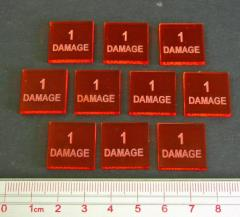 Axis & Allies - 1 Damage Tokens