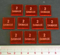 Axis & Allies - 2 Damage Tokens