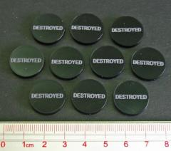 Axis & Allies - Destroyed Tokens