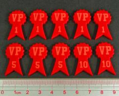 Numbered Victory Point Tokens - Red
