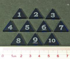 Mini Numbered Triangles 1-10 - Blue