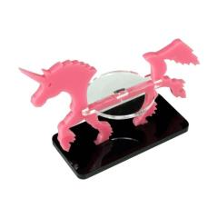 50x25mm Base - Unicorn/Character Mount Marker - Pink