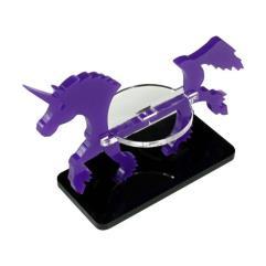 50x25mm Base - Unicorn/Character Mount Marker - Purple