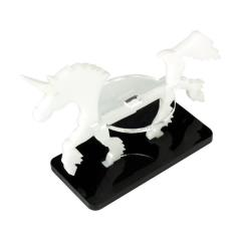 50x25mm Base - Unicorn/Character Mount Marker - White